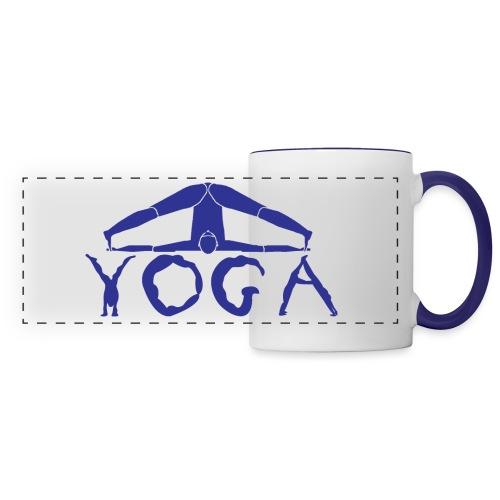 yoga yogi blu namaste pace amore hippie sport art - Tazza panoramica