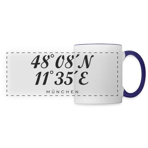 Münchener Koordinaten (Schwarz) München - Panoramatasse