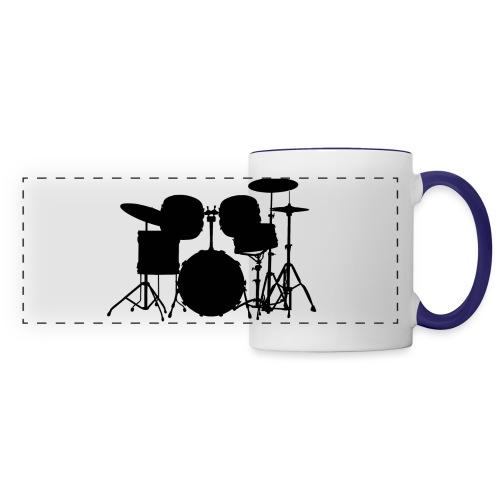 Drumset 1 Kontur schwarz - Panoramatasse