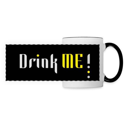 Drink me - Mug panoramique contrasté et blanc
