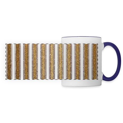 Gold Glitzer Streifen Muster Vintage Burlesque - Panoramic Mug