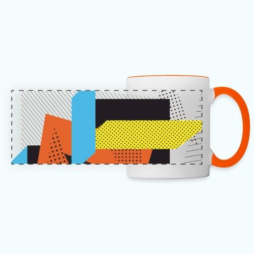Vintage shapes abstract - Panoramic Mug