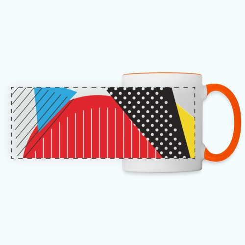 Geometry collage Abstract colors - Panoramic Mug