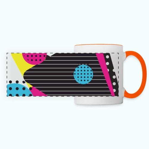 Abstract vintage shapes pink - Panoramic Mug