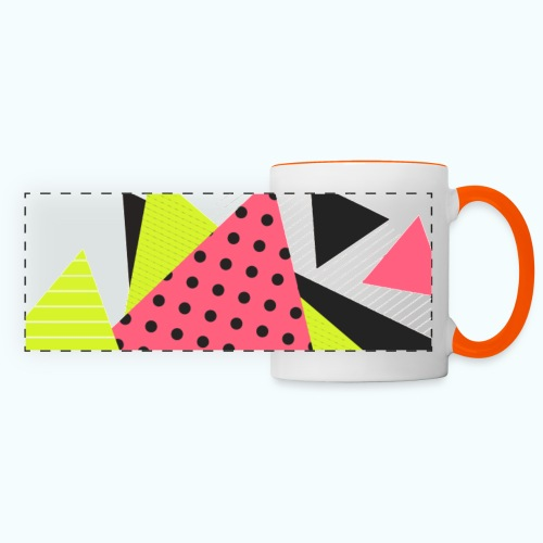 Neon geometry shapes - Panoramic Mug