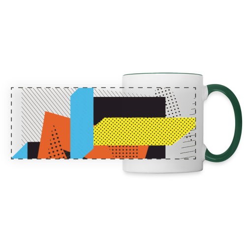Vintage shapes abstract - Panoramic Mug