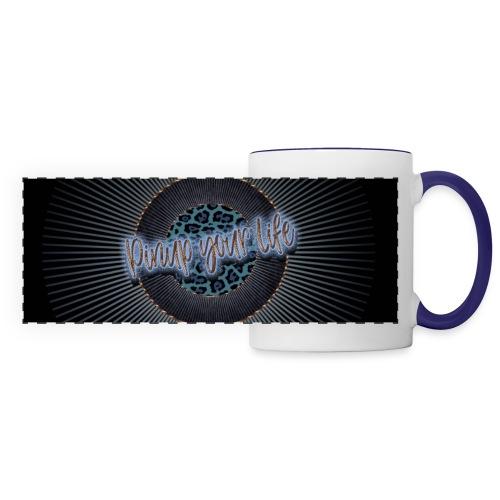 Pinup your Life - Leopard Blau - Panoramic Mug