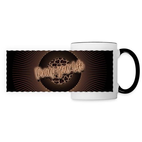 Pinup your life - leopard coffee - Panoramic Mug