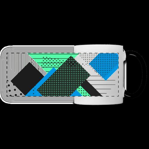Abstract rectangles pastel - Panoramic Mug
