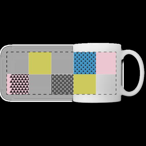 Abstract art squares - Panoramic Mug