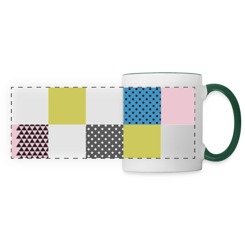 Abstract art squares - Panoramic Mug