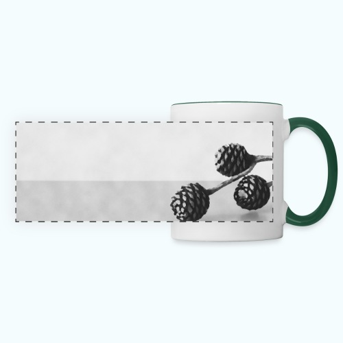 Gray minimalism composition watercolor - Panoramic Mug