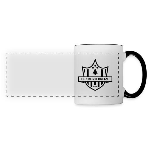 logo fckb blanc - Mug panoramique contrasté et blanc
