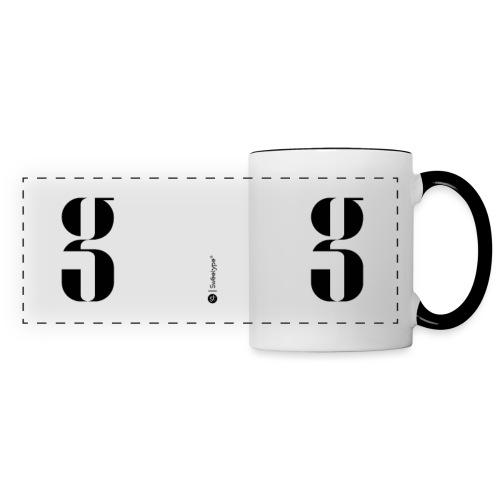 G - Mug panoramique contrasté et blanc