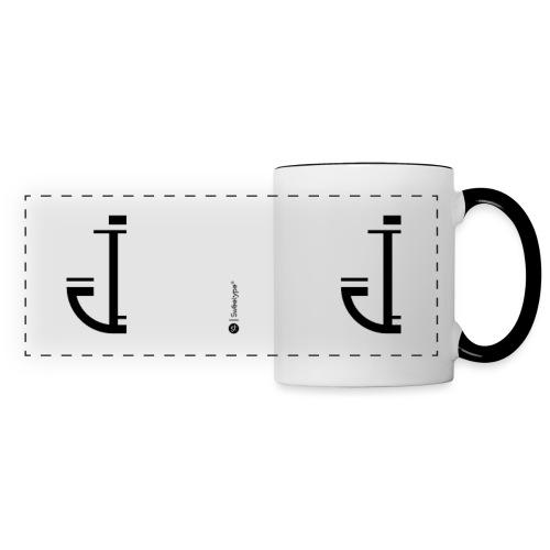 J - Mug panoramique contrasté et blanc