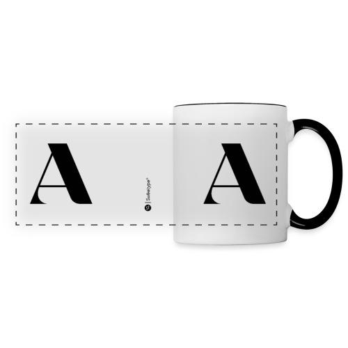 A - Mug panoramique contrasté et blanc