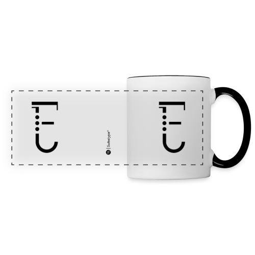 E - Mug panoramique contrasté et blanc