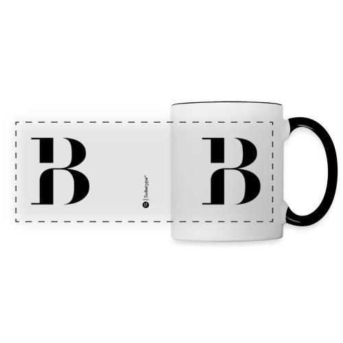 B - Mug panoramique contrasté et blanc