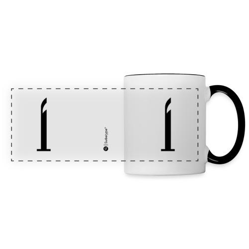 I - Mug panoramique contrasté et blanc