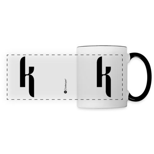 K - Mug panoramique contrasté et blanc