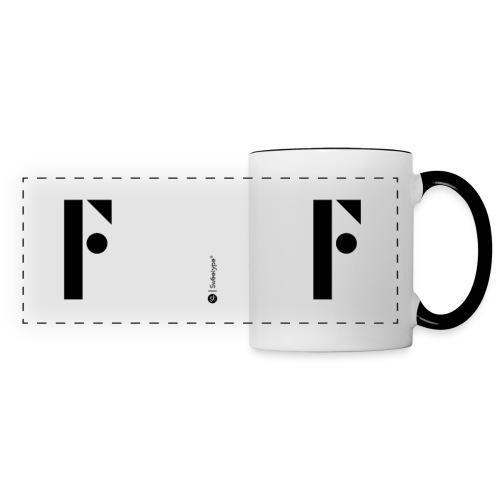 F - Mug panoramique contrasté et blanc