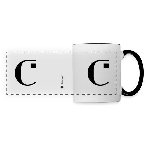 C - Mug panoramique contrasté et blanc