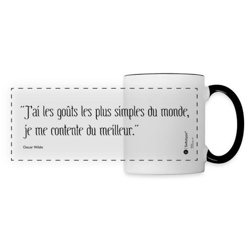 Citation ironique - Oscar Wilde - Mug panoramique contrasté et blanc