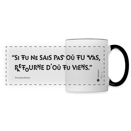 Proverbe africain sur le sens des choses - Mug panoramique contrasté et blanc