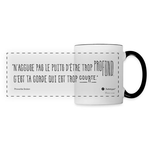 Proverbe indien sur la responsabilité - Mug panoramique contrasté et blanc