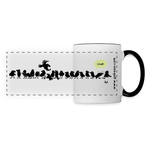 Corvids - c'est une foule! - Mug panoramique contrasté et blanc