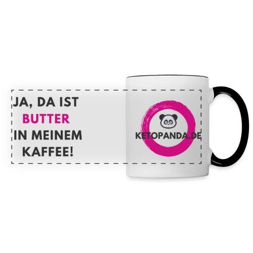 Ja, da ist Butter in meinem Kaffee (hell) - Panoramatasse