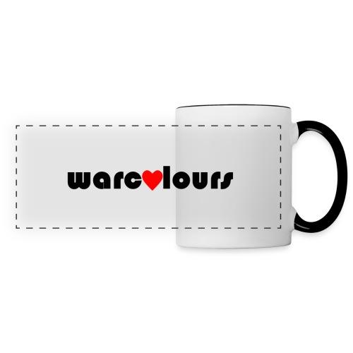 love warcolours black - Panoramic Mug