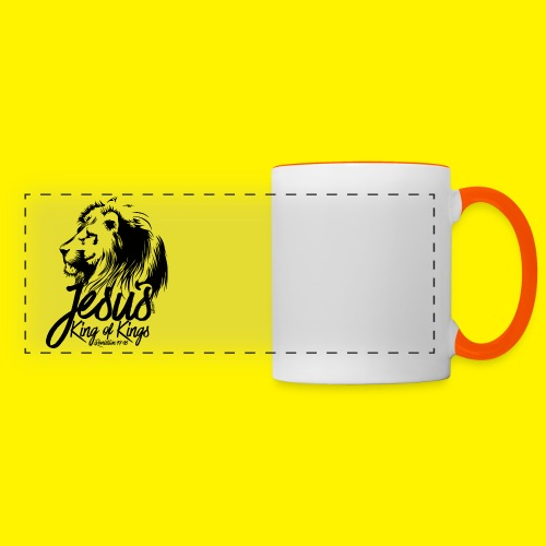 JESUS - KING OF KINGS - Revelations 19:16 - LION - Panoramic Mug