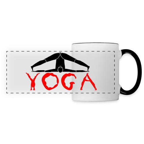 yoga yogi nero pace amore namaste sport art - Tazza panoramica