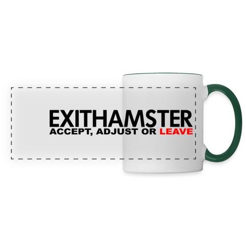 EXITHAMSTER ACCEPT ADJUST LEAVE - Panoramic Mug