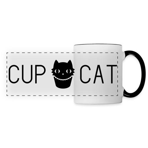 Logo Cup Cat blanc - Mug panoramique contrasté et blanc