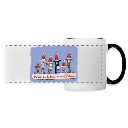 Weihnachten mit Windhunden - Panoramatasse