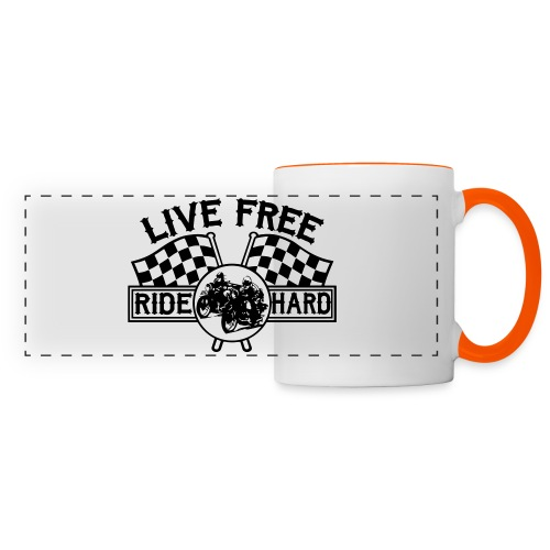 Live Free Ride Hard - Taza panorámica
