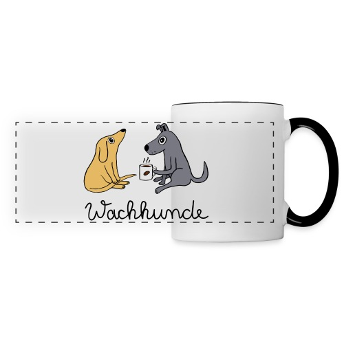 Wachhunde - Nur wach mit Kaffee - Panoramatasse