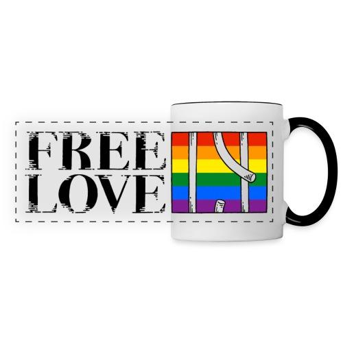 Free Love Rainbow Flag Freie Liebe - Panoramatasse