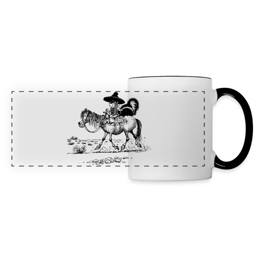 Thelwell 'Cowboy with a skunk' - Panoramic Mug