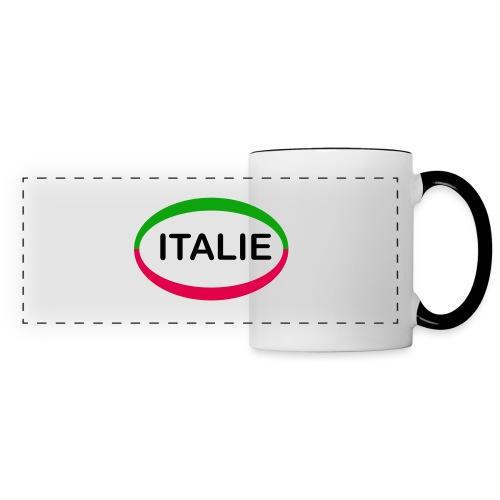 Drapeau Italia - Mug panoramique contrasté et blanc