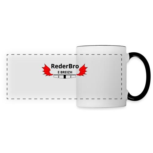 Impression recto - Mug panoramique contrasté et blanc