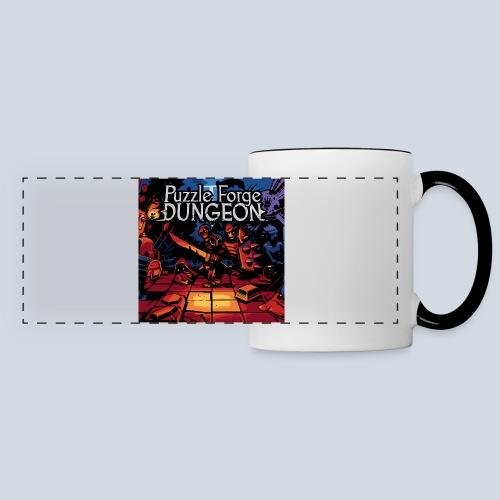Puzzle Forge Dungeon BoxArt - Mug panoramique contrasté et blanc