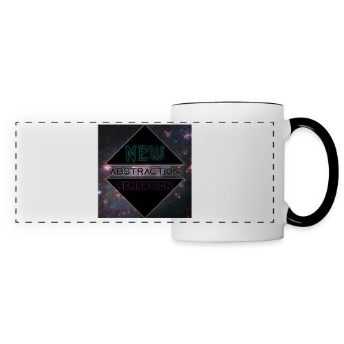 Abstraction v2 - Mug panoramique contrasté et blanc