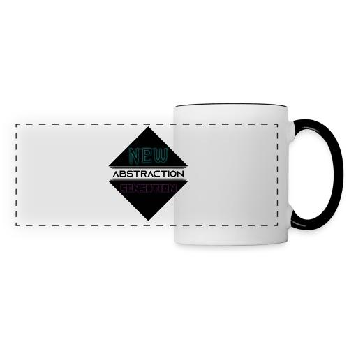 Abstraction - Mug panoramique contrasté et blanc