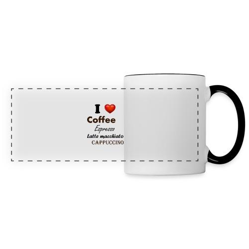 I love Coffee Espresso Latte macchiato Cappuccino - Panoramatasse