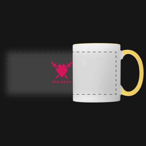 Das Walkeny Logo mit dem Schwert in PINK! - Panoramatasse