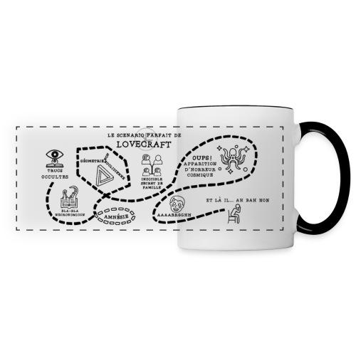 Le scénario parfait de Lovecraft - Mug panoramique contrasté et blanc