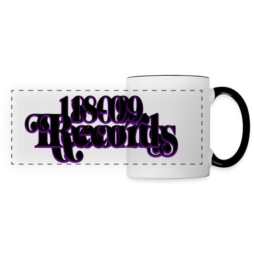 18 09 Records Text Small Canvas Black png - Panoramic Mug